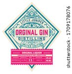 vintage liquor label. vector... | Shutterstock .eps vector #1709178076