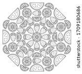 Circular Fruit Pattern In Form...