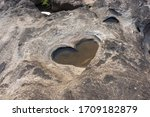 Heart Pattern Rock Hole With...