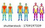 set of cartoon body warmth... | Shutterstock .eps vector #1709197339