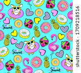 fashion tropics funny... | Shutterstock .eps vector #1709218516