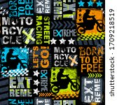 abstract seamless grunge... | Shutterstock .eps vector #1709218519