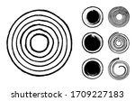 collection of abstract brushed...   Shutterstock .eps vector #1709227183