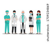 doctors and medical teams... | Shutterstock .eps vector #1709234869