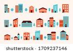 house building city landscape.... | Shutterstock .eps vector #1709237146