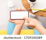 3d illustration. cartoon hand... | Shutterstock . vector #1709240389