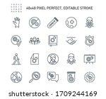 simple set of coronavirus...   Shutterstock .eps vector #1709244169