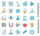 line and fill style icon set... | Shutterstock .eps vector #1709245813