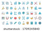 line and fill style icon set... | Shutterstock .eps vector #1709245840