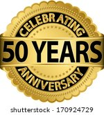 celebrating 50 years... | Shutterstock .eps vector #170924729
