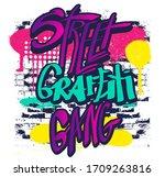 typography graffiti print. ... | Shutterstock .eps vector #1709263816