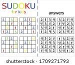 sudoku puzzle for kids stock... | Shutterstock .eps vector #1709271793