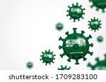 covid 19 . 3d floating corona... | Shutterstock .eps vector #1709283100