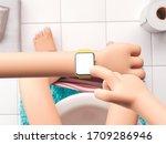3d illustration. cartoon hand... | Shutterstock . vector #1709286946