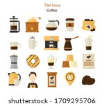 coffee flat icons. coffee maker ...