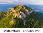 Aerial View Of Mountain Peak ...