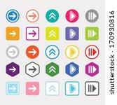 arrow icon set popular color...