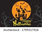 happy halloween day happy...   Shutterstock .eps vector #1709317426