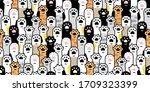 cat paw seamless pattern... | Shutterstock .eps vector #1709323399