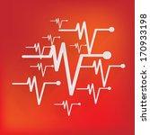 heart beat  cardiogram. pulse... | Shutterstock . vector #170933198