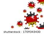covid 19 . 3d floating corona... | Shutterstock .eps vector #1709343430