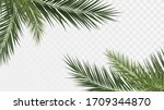 palm branches in the corners ... | Shutterstock .eps vector #1709344870