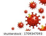 covid 19 . 3d floating corona... | Shutterstock .eps vector #1709347093