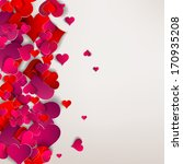 hearts on abstract love... | Shutterstock . vector #170935208