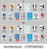 pack sign security coronavirus... | Shutterstock .eps vector #1709360563