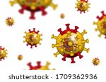 covid 19 . 3d floating corona... | Shutterstock .eps vector #1709362936