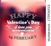 valentine's day card   Shutterstock .eps vector #170936513