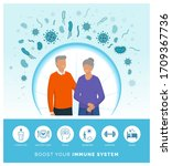 seniors boosting their immune... | Shutterstock .eps vector #1709367736