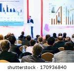 speaker on the podium. people... | Shutterstock . vector #170936840