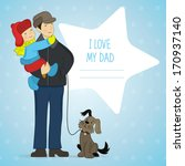 vector background with father ... | Shutterstock .eps vector #170937140