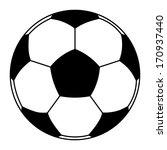 vector icon of soccer ball...