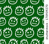 hand drawn emoticons. seamless...   Shutterstock .eps vector #170939270
