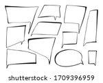 hand drawn imitation of speech... | Shutterstock .eps vector #1709396959