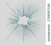 broken  cracked or crashed... | Shutterstock .eps vector #1709397130