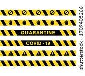 vector graphic of quarantine... | Shutterstock .eps vector #1709405266