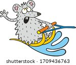 Mouse Water Skiing On Holiday