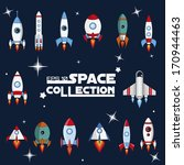 spaceship vector. | Shutterstock .eps vector #170944463