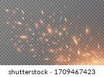 fire sparks isolated on light... | Shutterstock .eps vector #1709467423