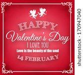 valentine's day card | Shutterstock .eps vector #170947040