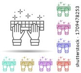 keyboard hands multi color icon....