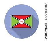 national flag of burundi in...