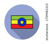 national flag of ethiopia in...