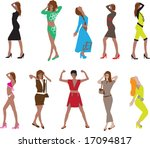 fashion collection of vector... | Shutterstock .eps vector #17094817