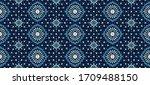 seamless floral pattern folk... | Shutterstock .eps vector #1709488150