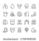 water line black pictogram icon ... | Shutterstock .eps vector #1709498530