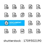 document vector line icons....